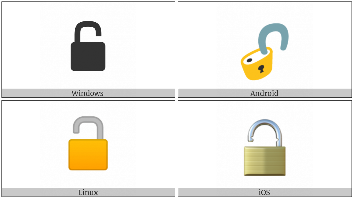 Open Lock on various operating systems
