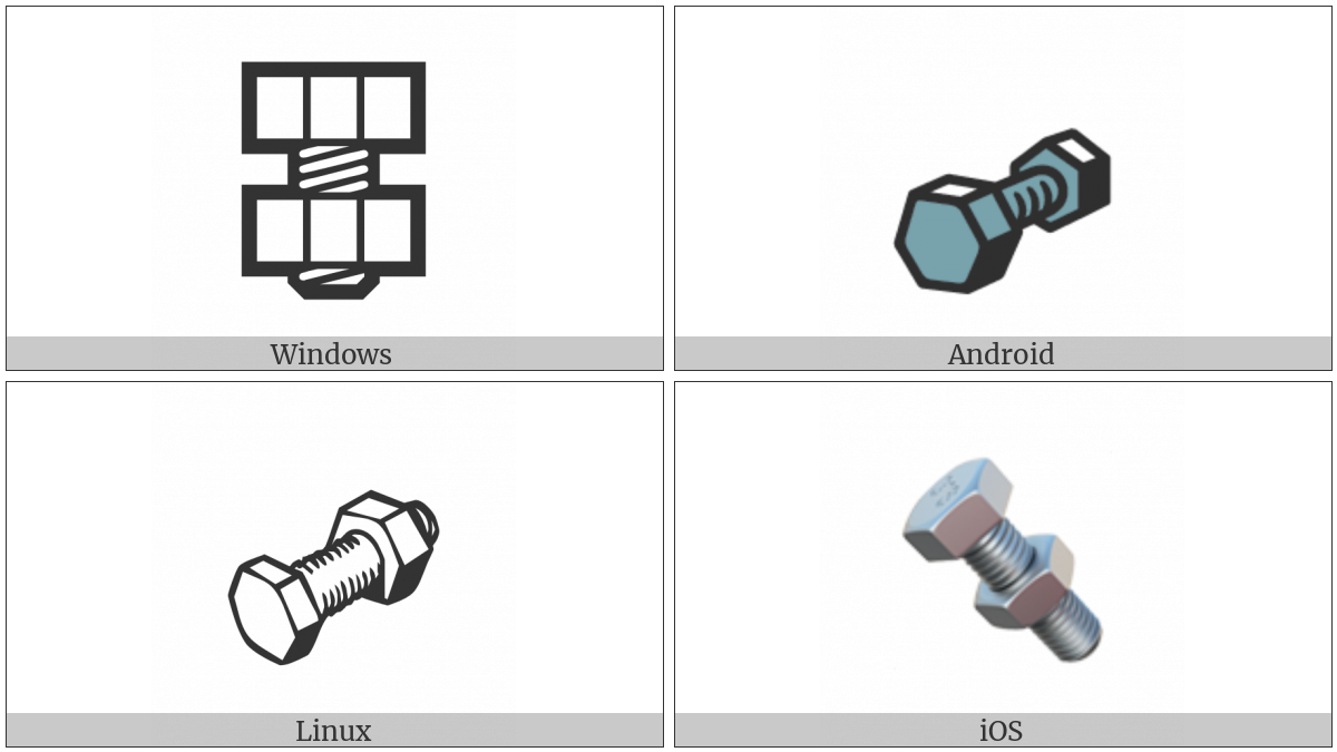 Nut And Bolt on various operating systems