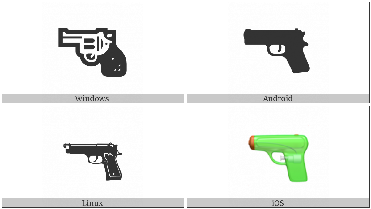 Pistol on various operating systems