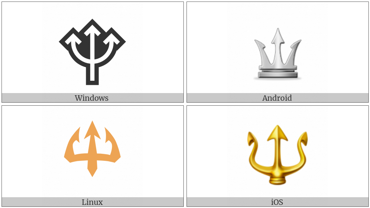 Trident Emblem on various operating systems