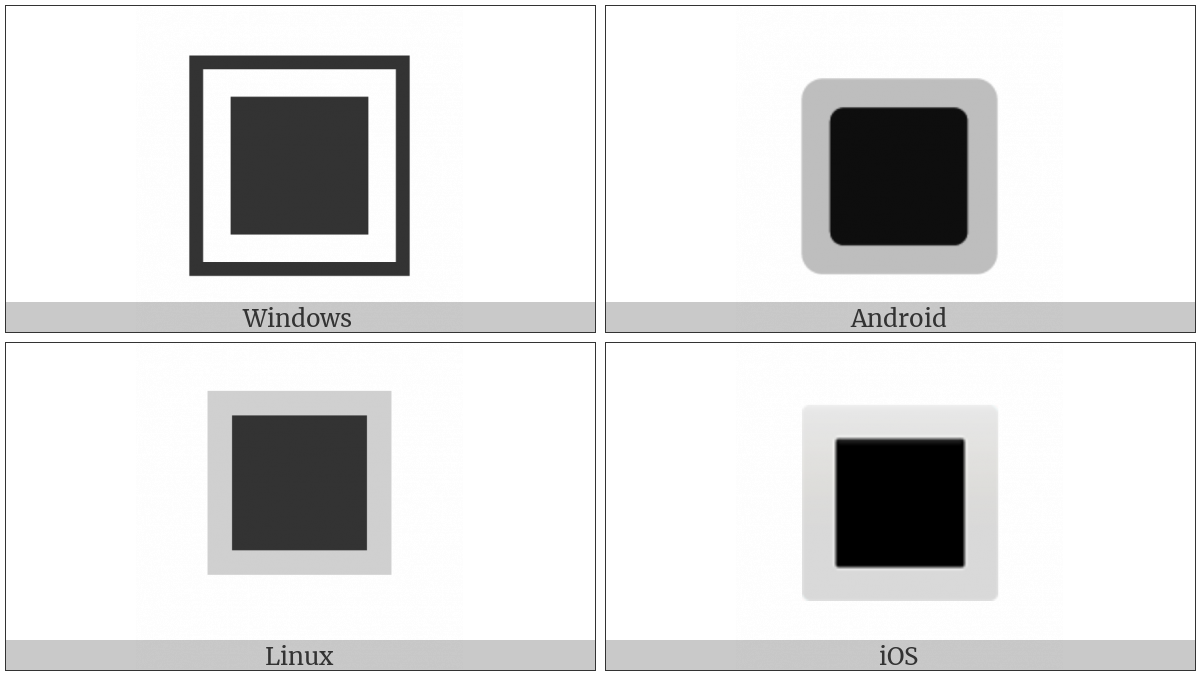 White Square Button on various operating systems