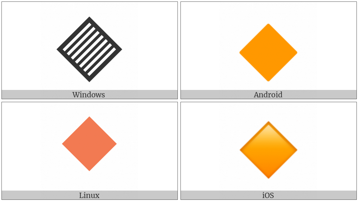 Large Orange Diamond on various operating systems