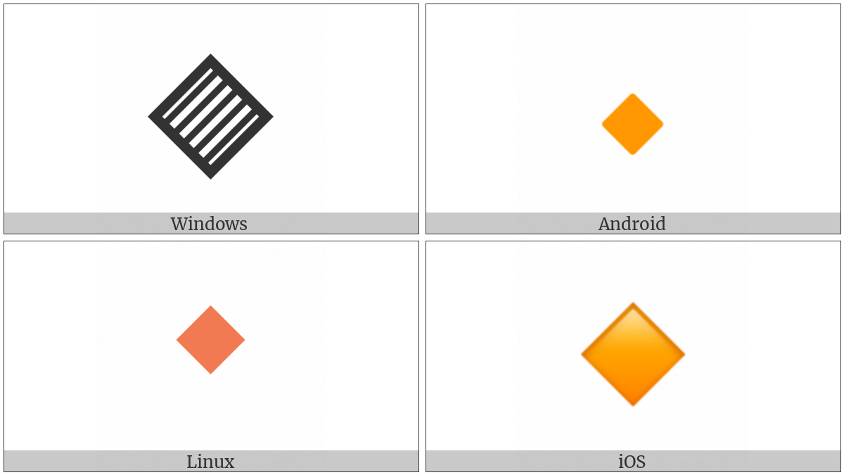 Small Orange Diamond on various operating systems