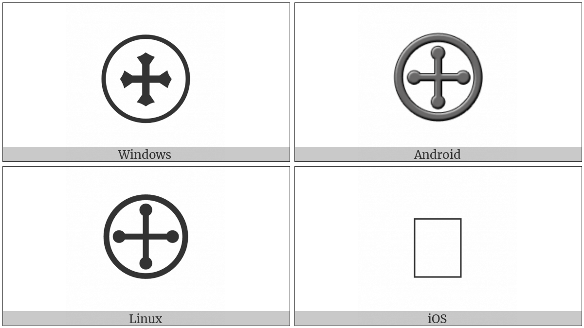 Circled Cross Pommee on various operating systems