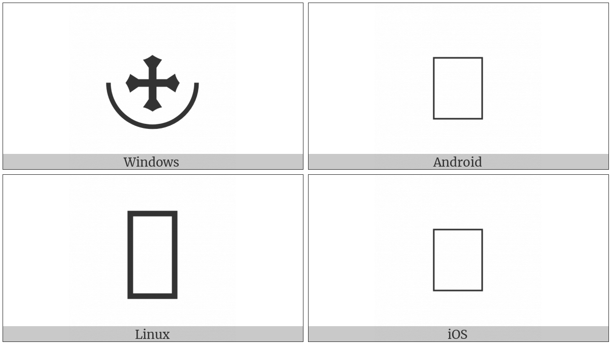 Cross Pommee With Half-Circle Below on various operating systems