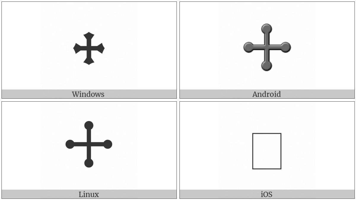 Cross Pommee on various operating systems