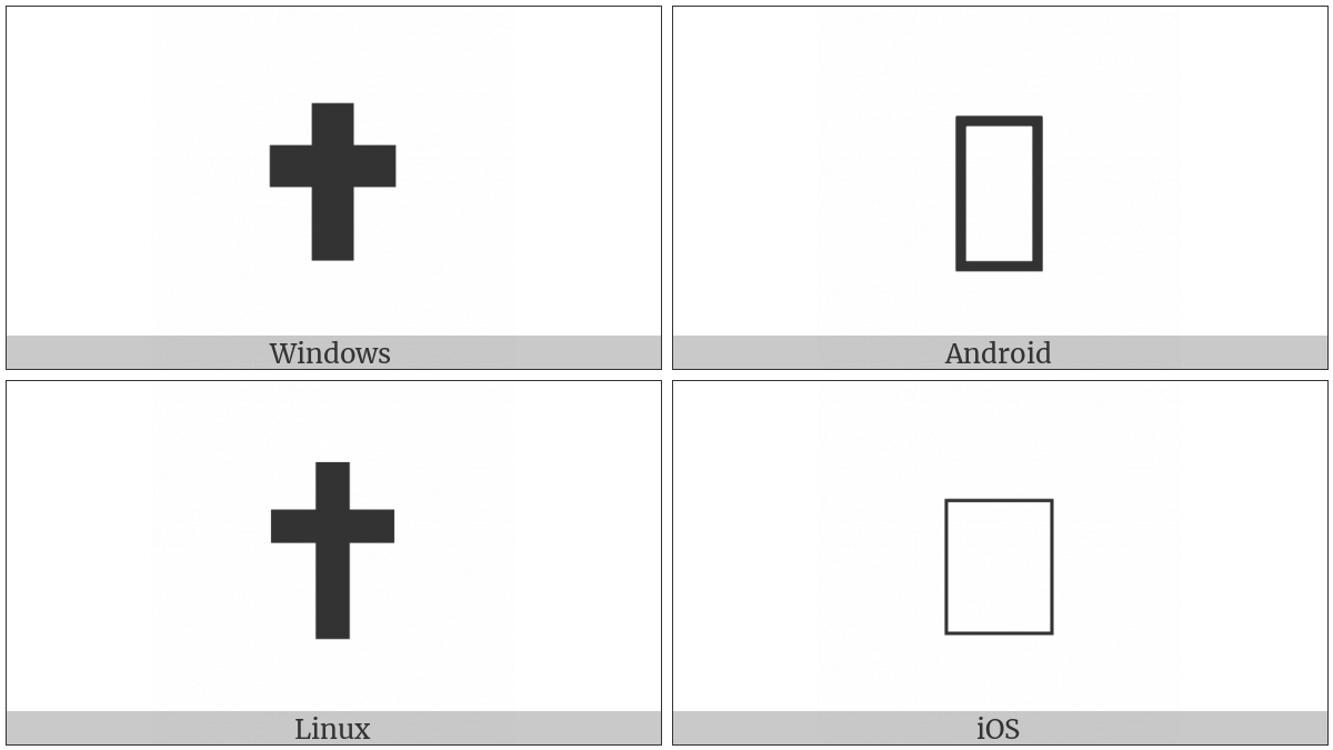 Heavy Latin Cross on various operating systems