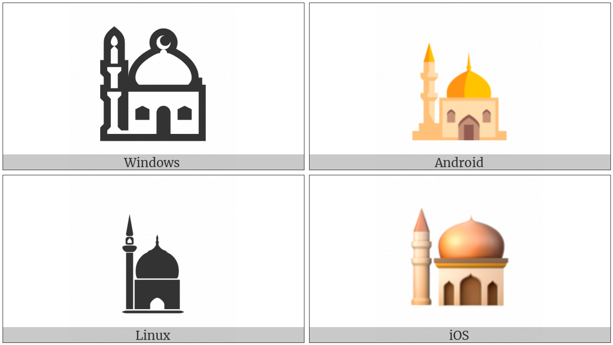 Mosque on various operating systems