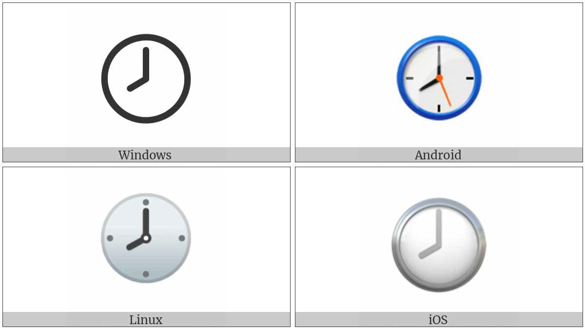 Clock Face Eight Oclock on various operating systems
