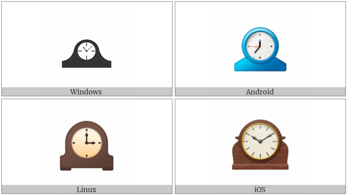 Mantelpiece Clock on various operating systems