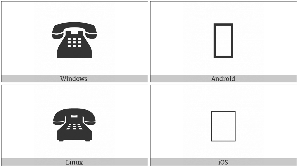 Black Touchtone Telephone on various operating systems