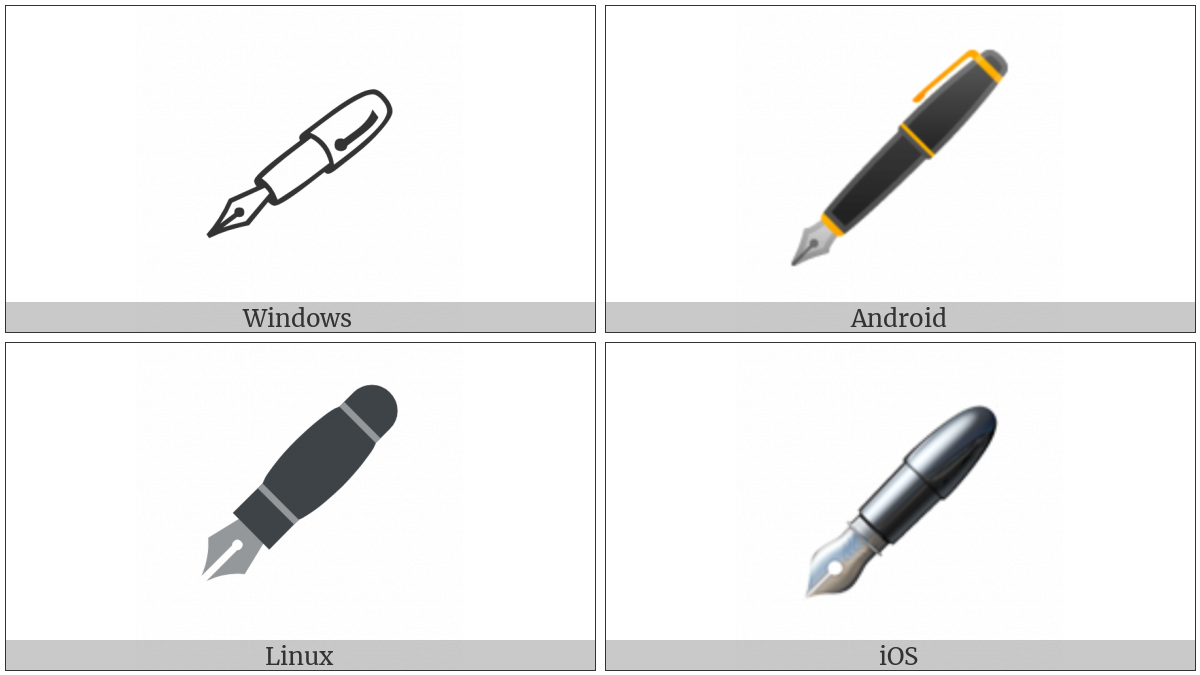 Lower Left Fountain Pen on various operating systems
