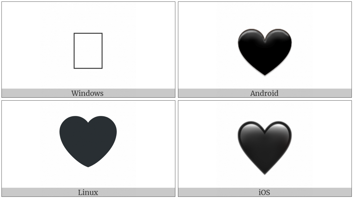 Black Heart on various operating systems