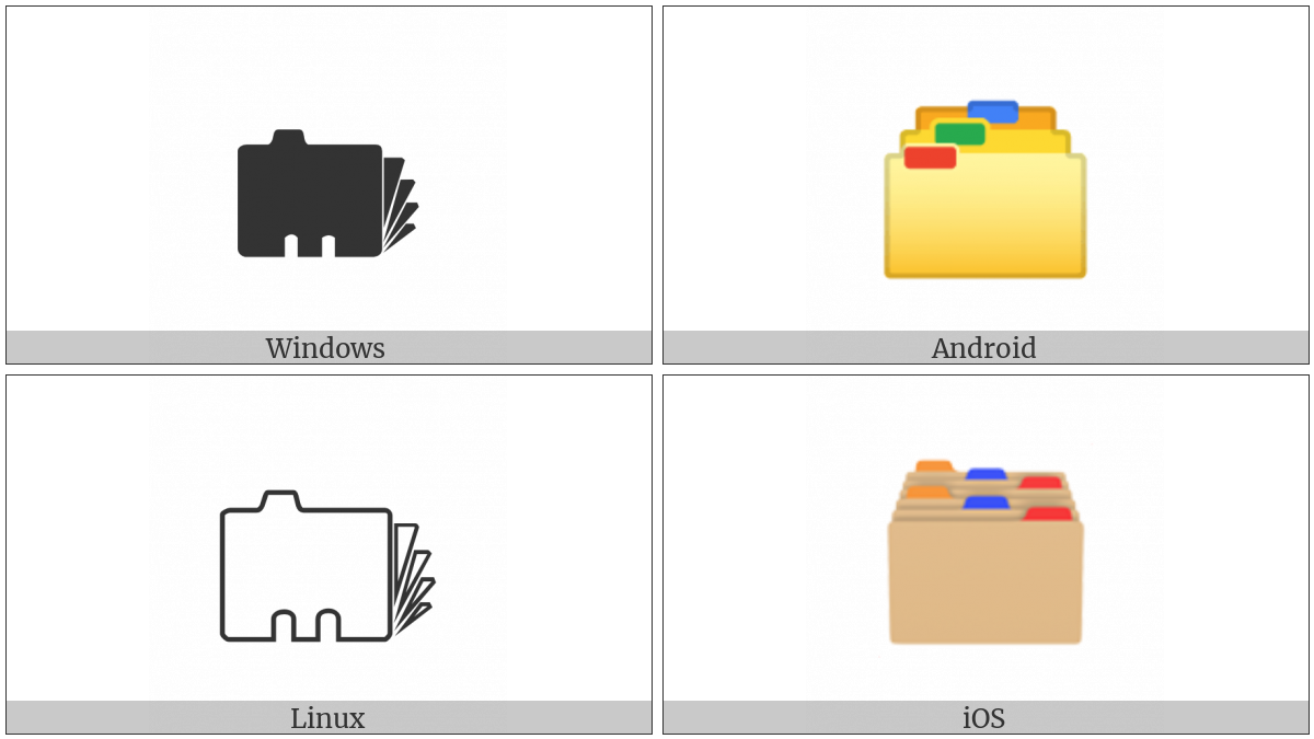 Card Index Dividers on various operating systems