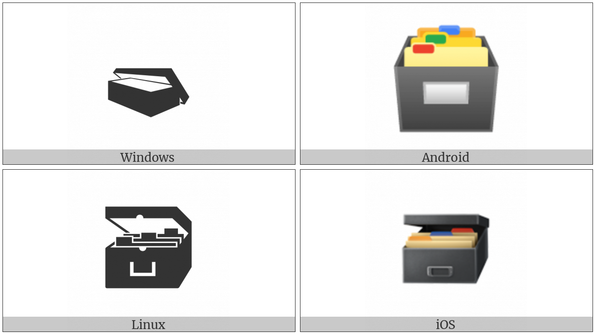 Card File Box on various operating systems