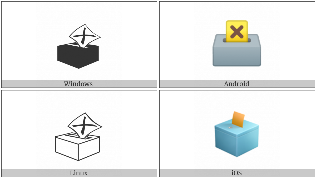 Ballot Box With Ballot on various operating systems