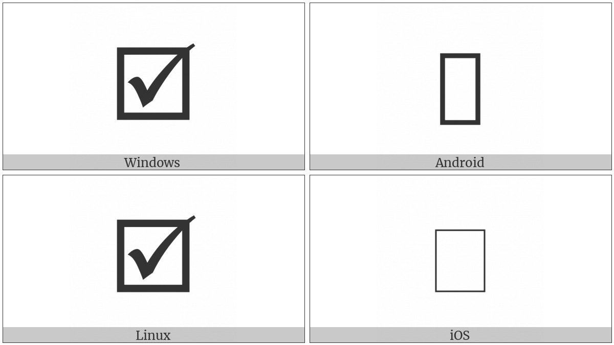 Ballot Box With Bold Check on various operating systems