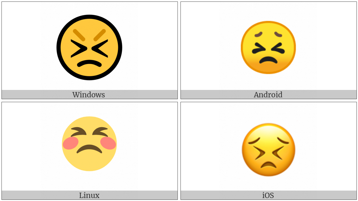 Persevering Face on various operating systems