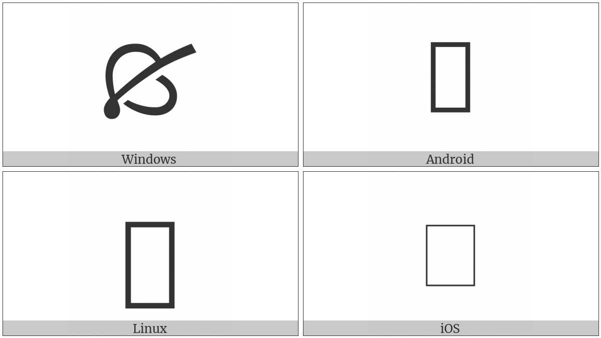 Turned South West Pointing Leaf on various operating systems
