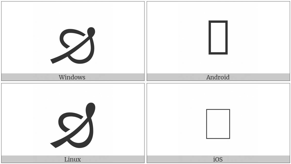 Turned North East Pointing Leaf on various operating systems