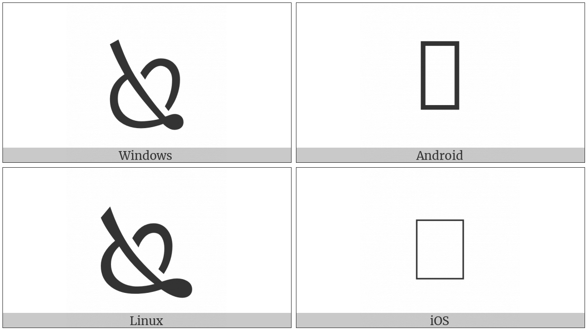 Turned South East Pointing Leaf on various operating systems