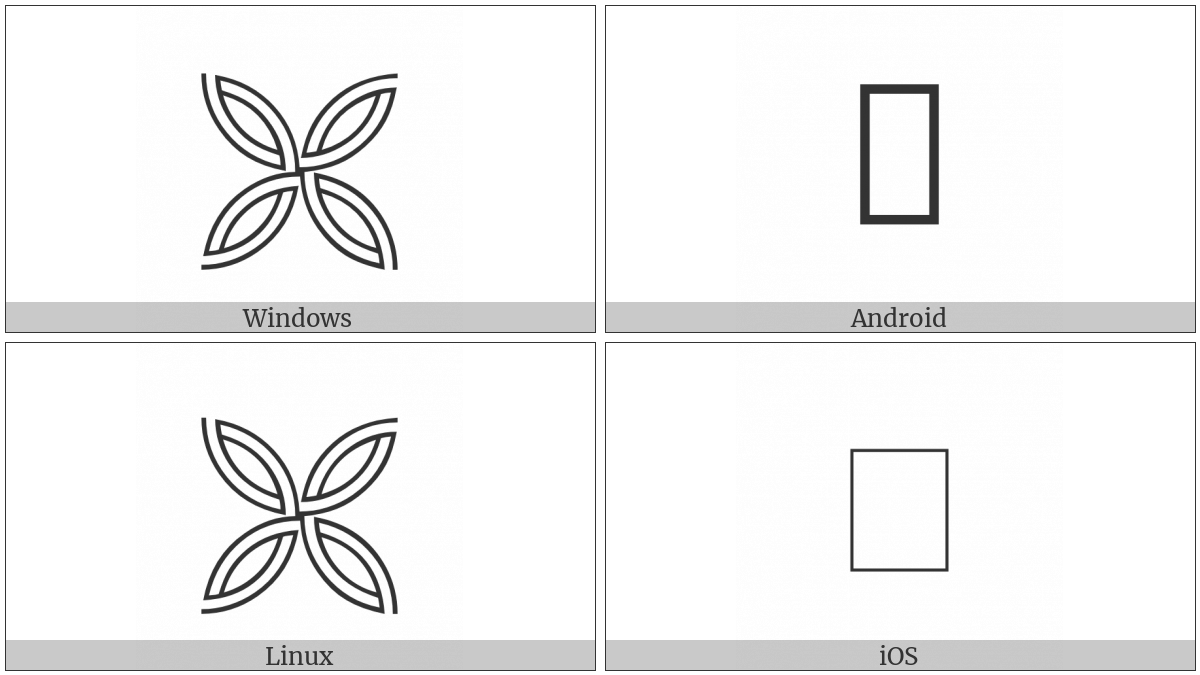 Hollow Quilt Square Ornament on various operating systems