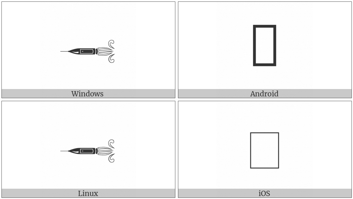 Leftwards Rocket on various operating systems