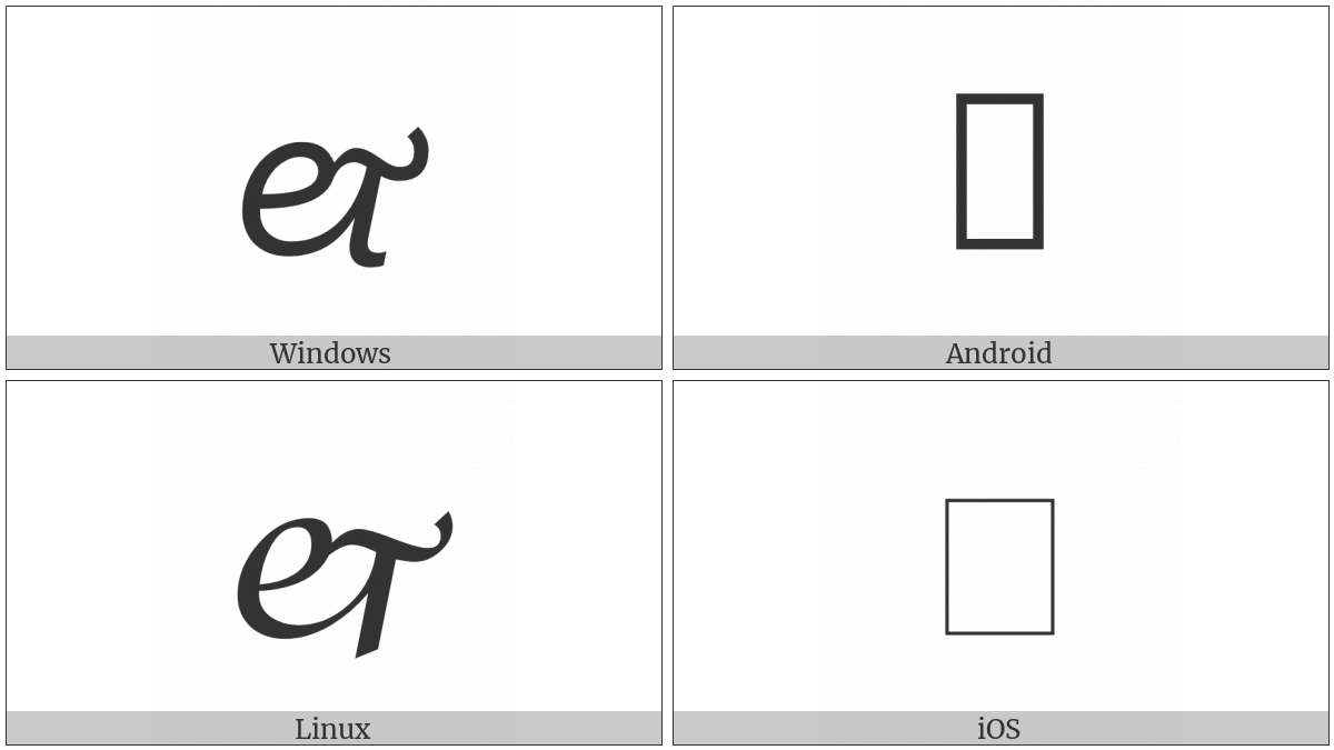 Script Ligature Et Ornament on various operating systems