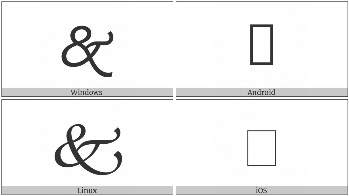 Swash Ampersand Ornament on various operating systems