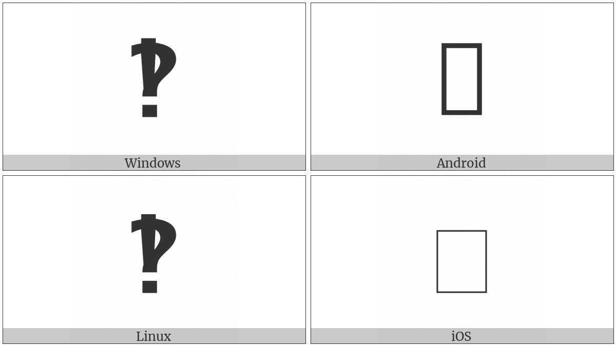 Heavy Sans-Serif Interrobang Ornament on various operating systems
