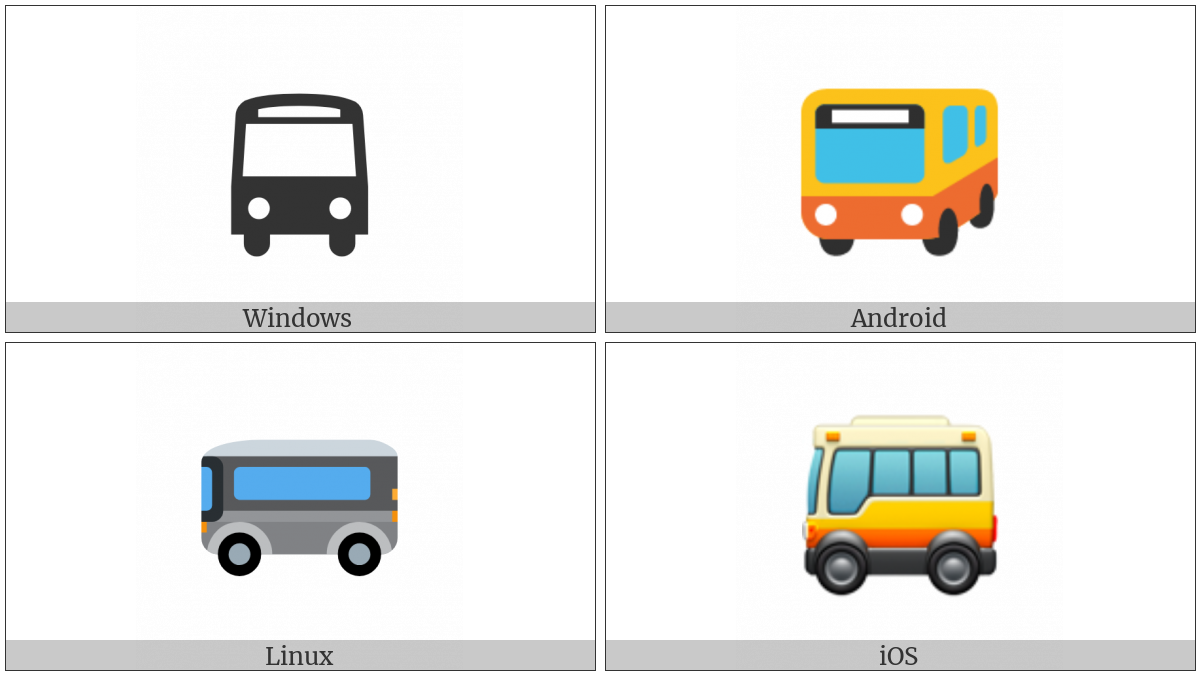 Bus on various operating systems