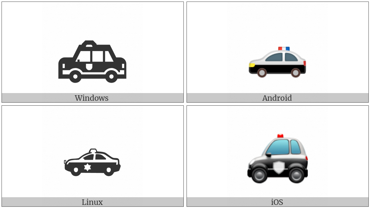 Police Car on various operating systems