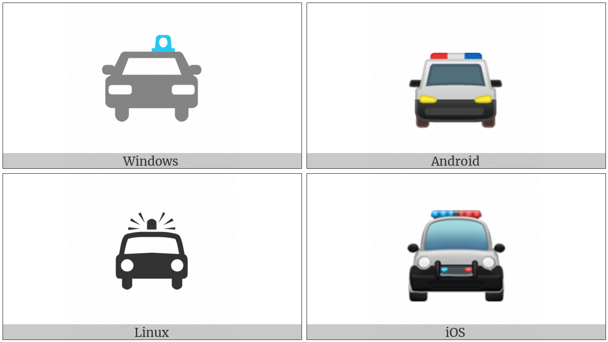 Oncoming Police Car on various operating systems