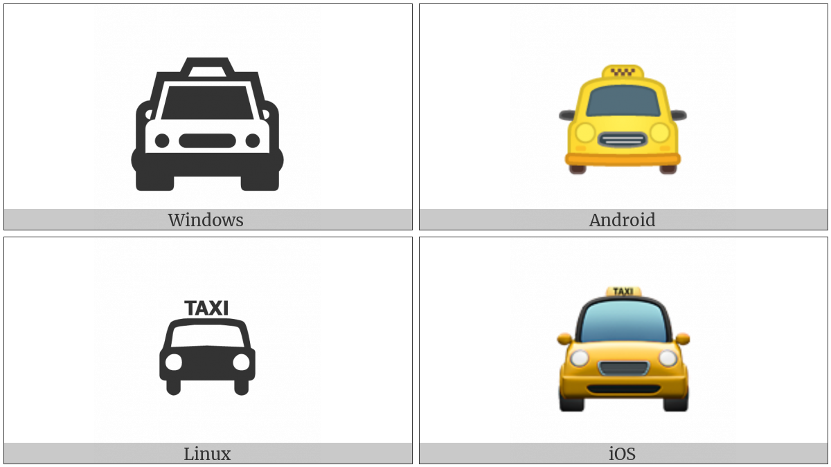 Oncoming Taxi on various operating systems