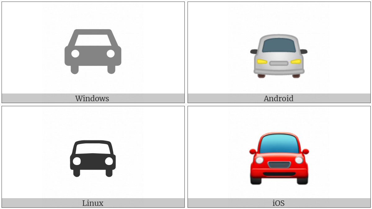 Oncoming Automobile on various operating systems