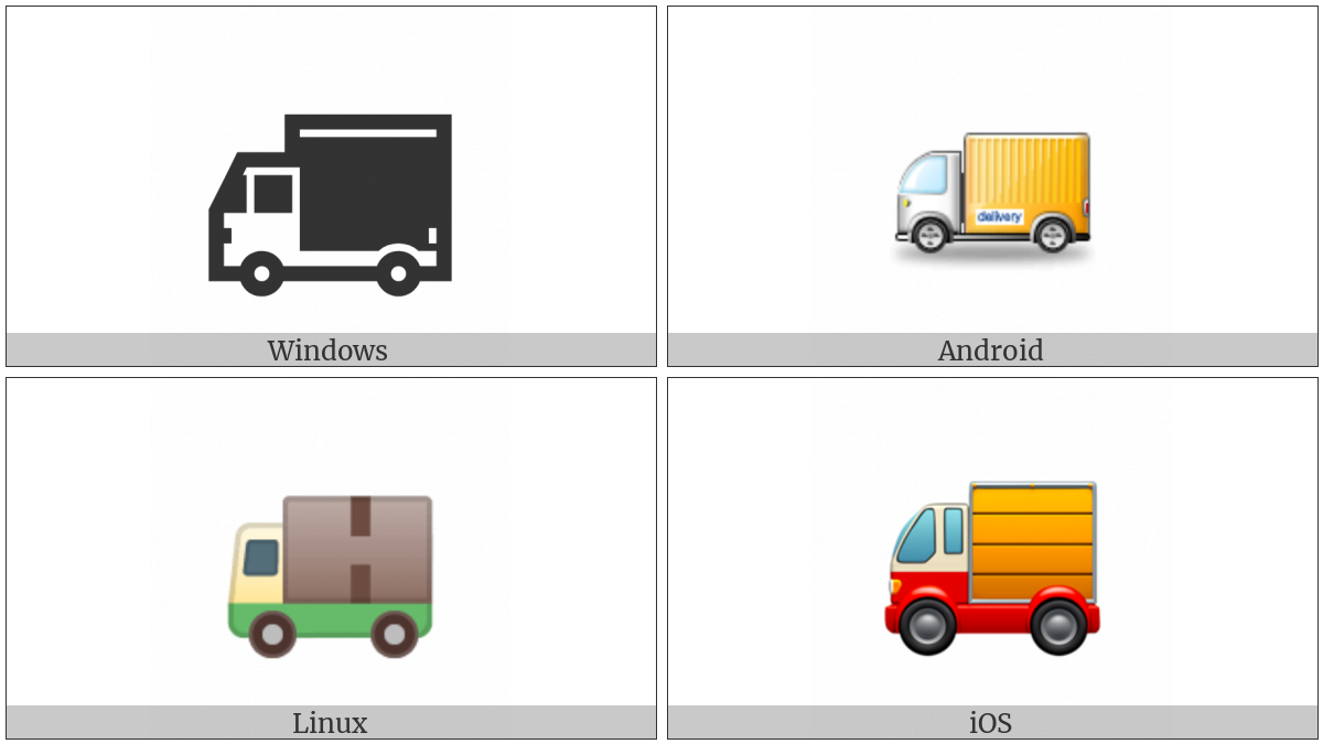 Delivery Truck on various operating systems