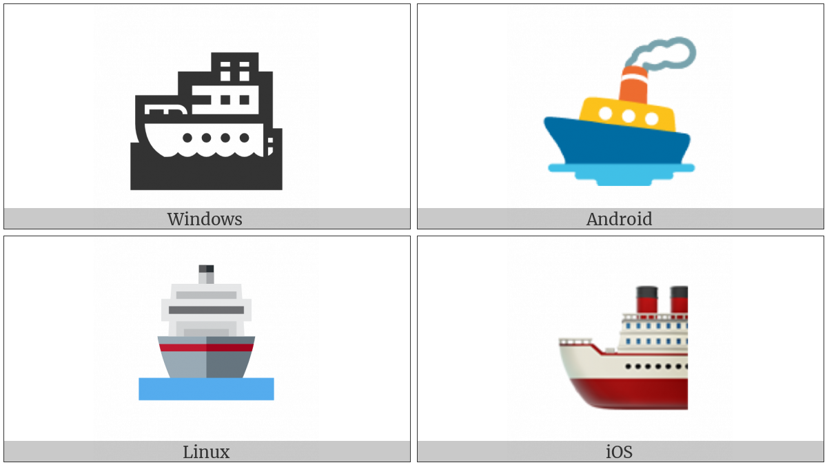 Ship on various operating systems