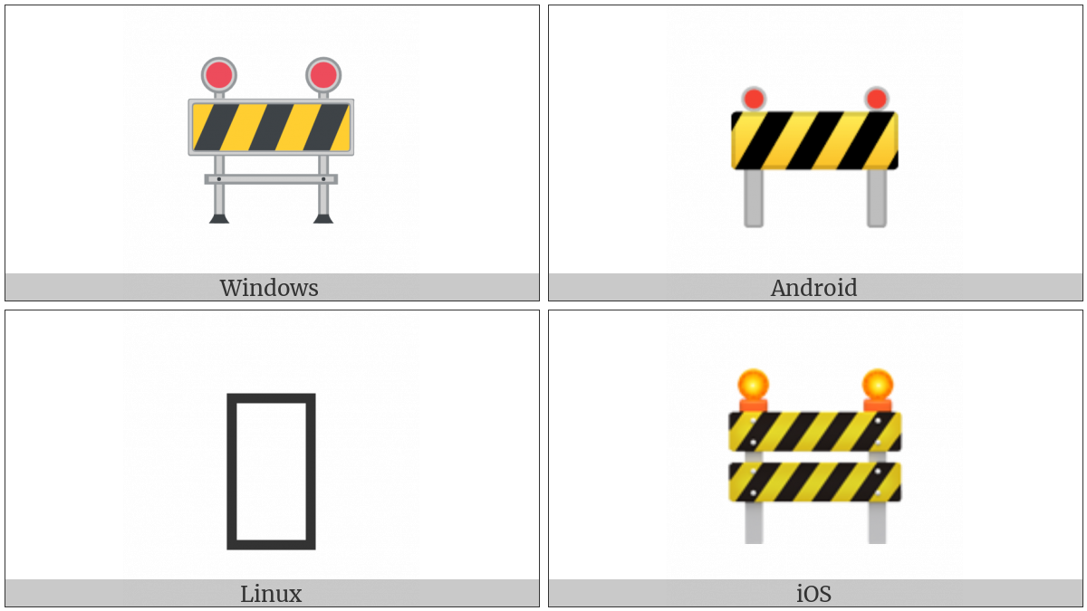 Construction Sign on various operating systems