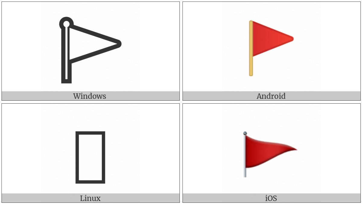 Triangular Flag On Post on various operating systems