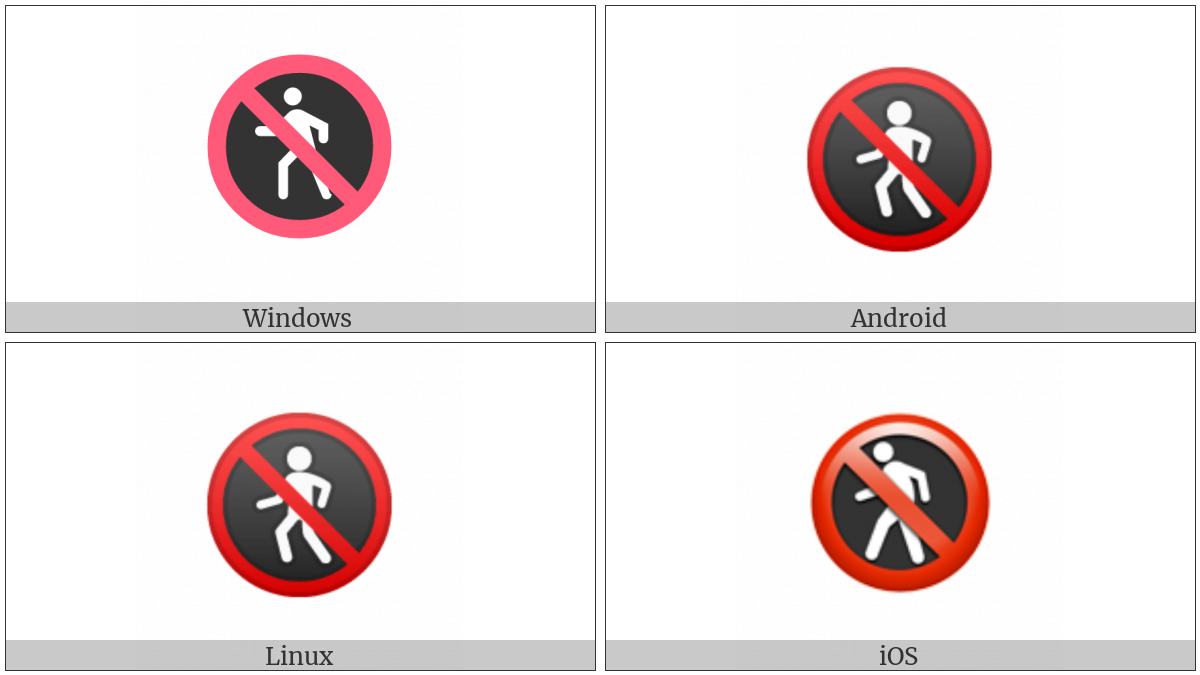 No Pedestrians on various operating systems