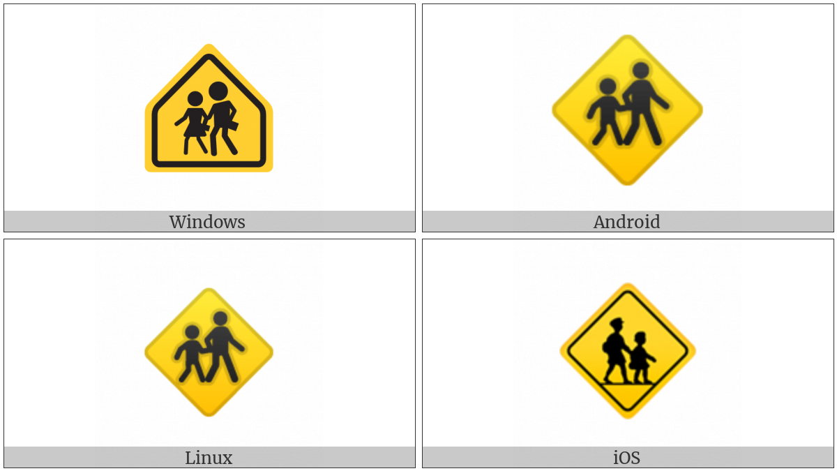 Children Crossing on various operating systems