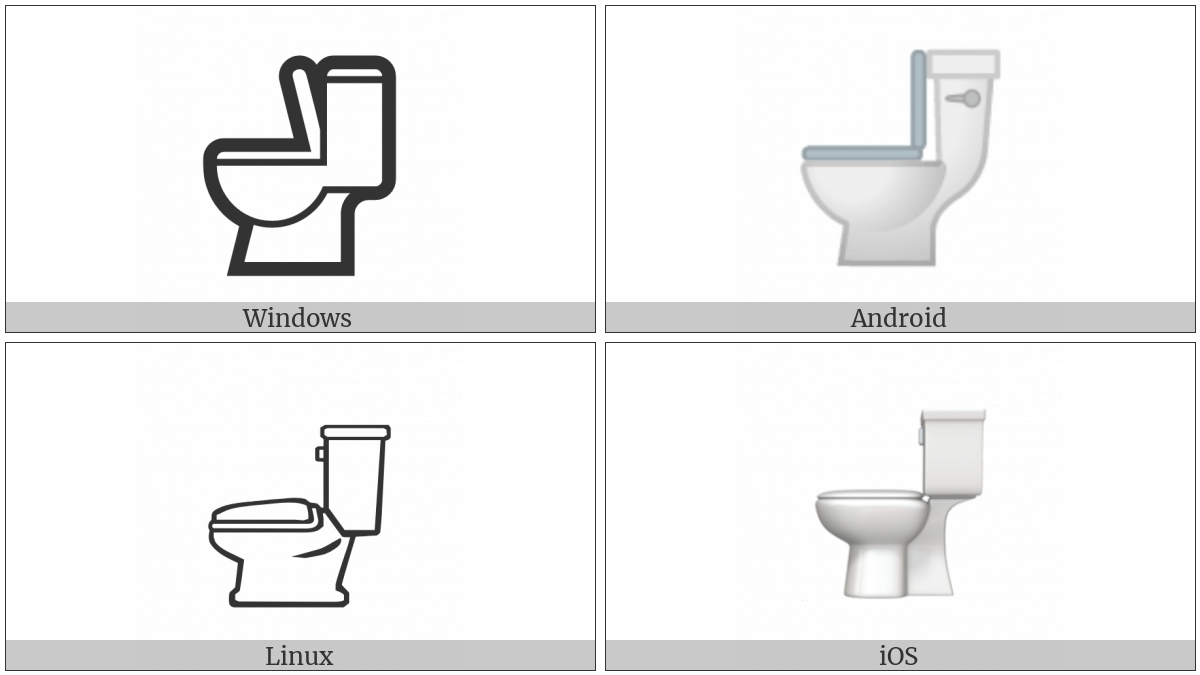 Toilet on various operating systems