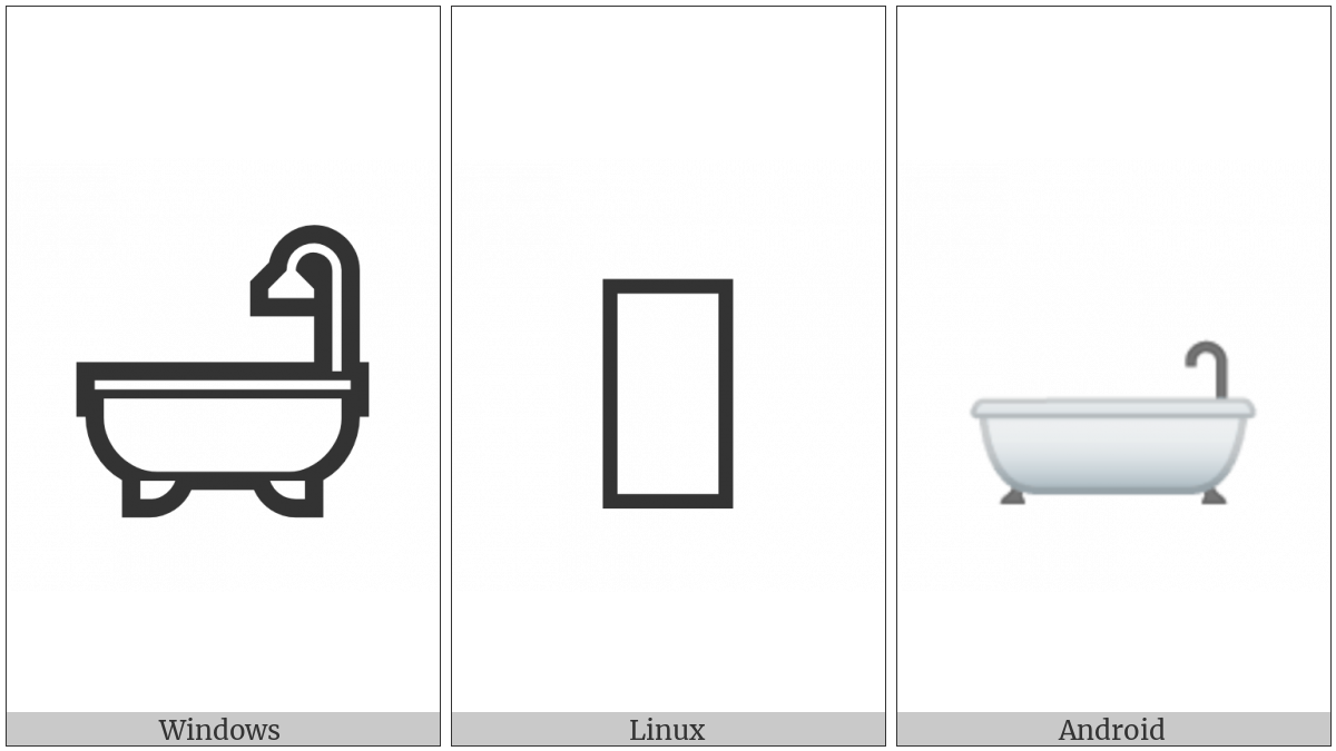 Bathtub on various operating systems