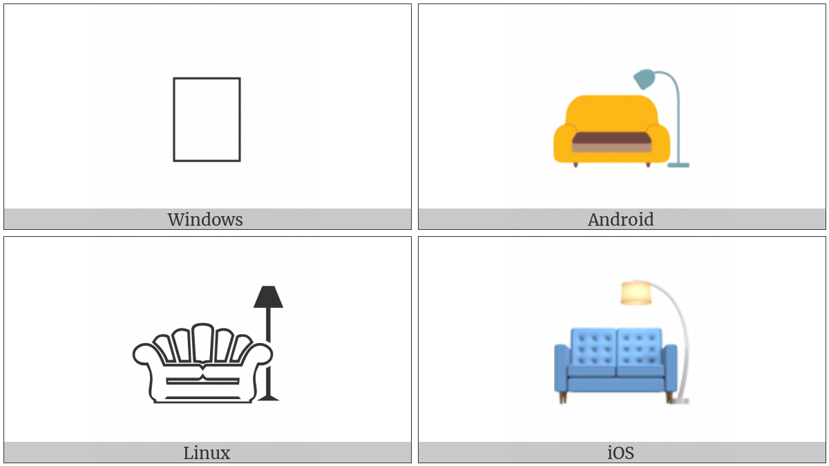 Couch And Lamp on various operating systems