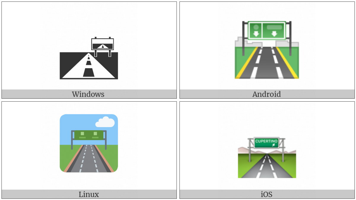 Motorway on various operating systems