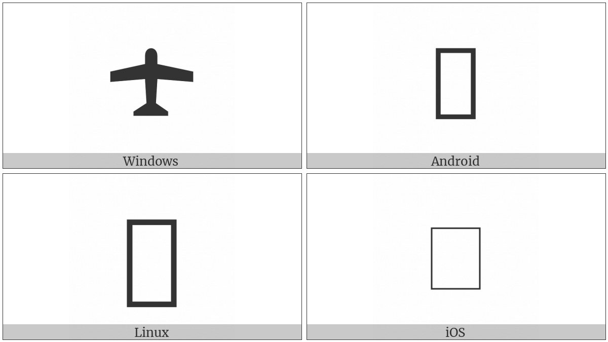 Up-Pointing Small Airplane on various operating systems