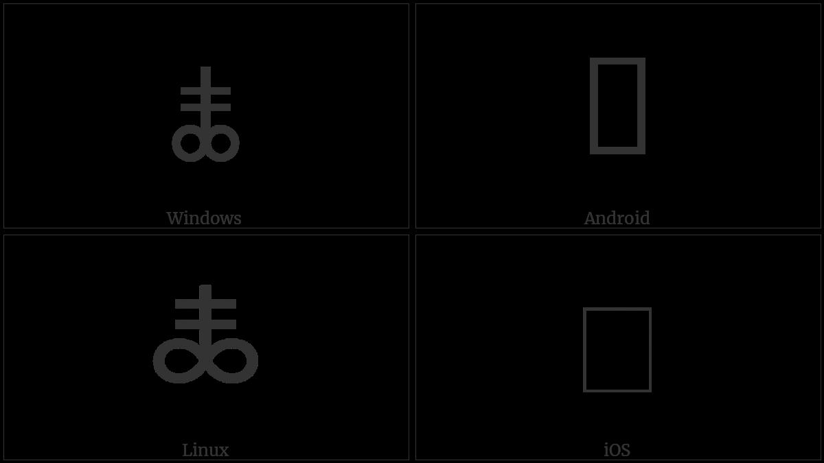 Alchemical Symbol For Black Sulfur Utf 8 Icons