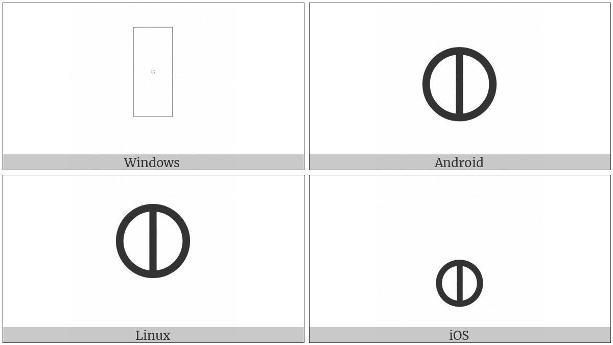 Alchemical Symbol For Nitre on various operating systems
