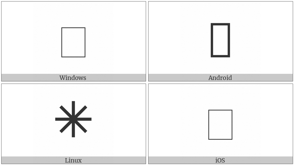 Light Eight Spoked Asterisk on various operating systems