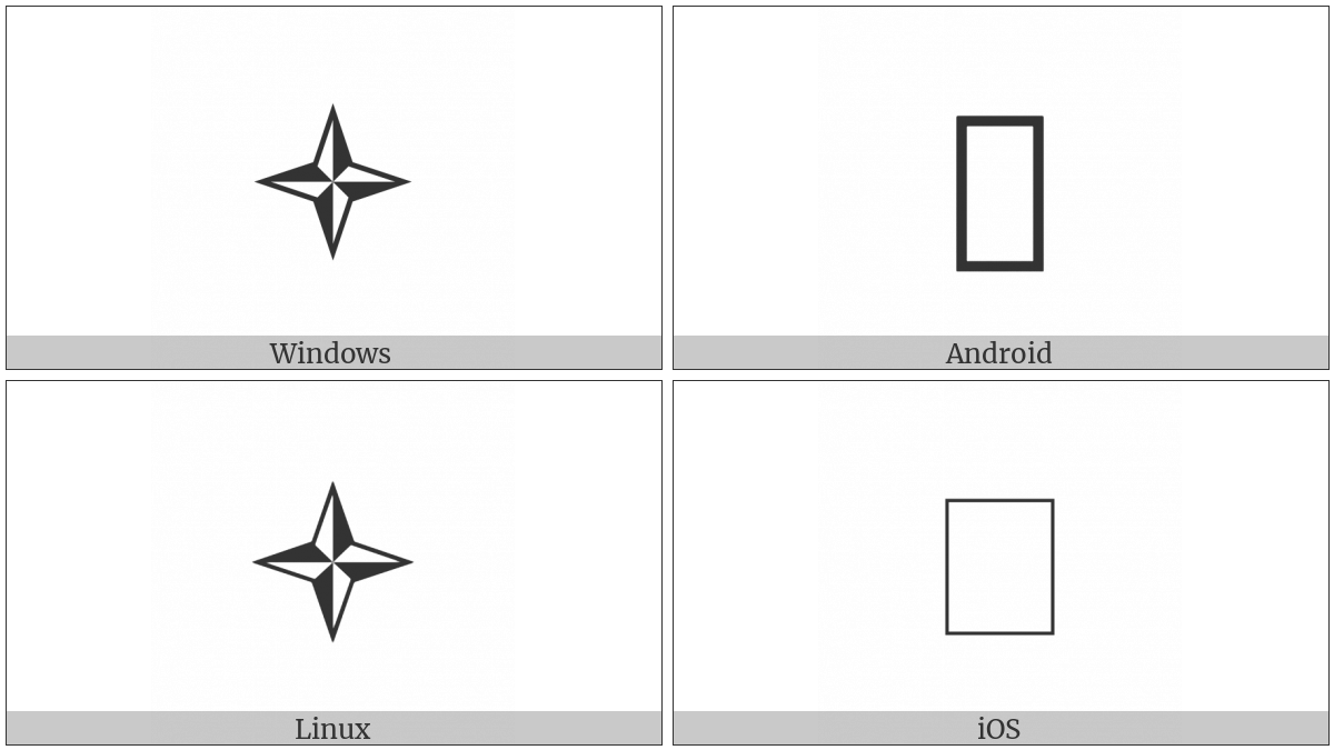 Medium Four Pointed Pinwheel Star on various operating systems